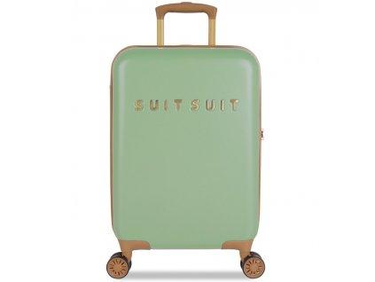 Kabinové zavazadlo SUITSUIT® TR-7103/3-S - Fab Seventies Basil Green  + LED svítilna