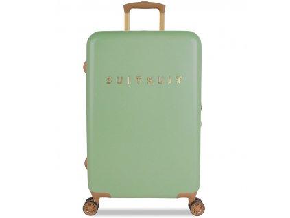 Cestovní kufr SUITSUIT® TR-7103/3-M - Fab Seventies Basil Green  + LED svítilna