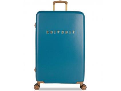 Cestovní kufr SUITSUIT® TR-7102/3-L - Fab Seventies Seaport Blue  + LED svítilna