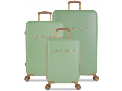 Sada cestovních kufrů SUITSUIT® TR-7103/3 - Fab Seventies Basil Green  + LED svítilna