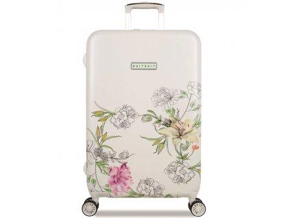 Cestovní kufr SUITSUIT® TR-5101/3-M - 10th Anniversary English Garden  + LED svítilna