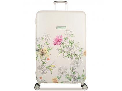 Cestovní kufr SUITSUIT® TR-5101/3-L - 10th Anniversary English Garden  + LED svítilna