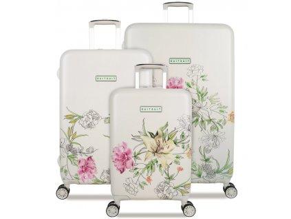 Sada cestovních kufrů SUITSUIT® TR-5101/3 - 10th Anniversary English Garden  + LED svítilna