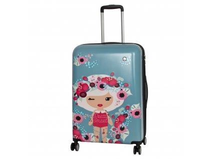 Travelite Lil' Ledy 4w M hardcase Grey/blue  + Sluchátka, myš nebo pouzdro