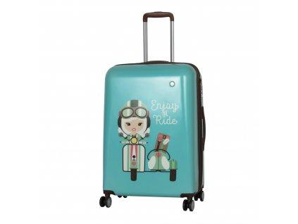 Travelite Lil' Ledy 4w M hardcase Turquoise  + LED svítilna