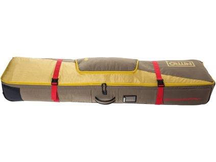 NITRO obal TRACKER WHEELIE BOARD BAG 159 golden mud  + Sluchátka, myš nebo pouzdro