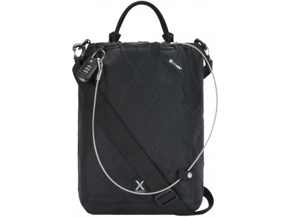 PACSAFE taška TRAVELSAFE X15 black  + LED svítilna
