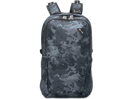 PACSAFE batoh VIBE 25 grey /camo  + LED čelová svítilna
