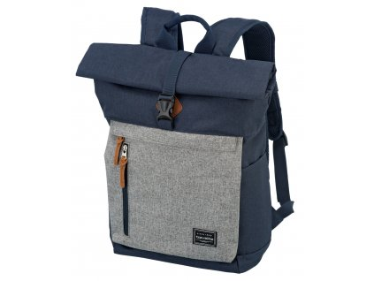 Travelite Basics Roll-up Backpack Navy/Grey 35l