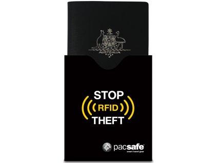 PACSAFE peneženka RFIDsleeve 50 Passport Black