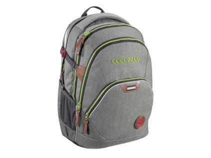 Školní batoh Coocazoo EvverClevver2, Denim Grey, certifikát AGR  + 5 % sleva po registraci + LED svítilna