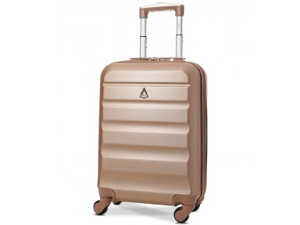 Kabinové zavazadlo AEROLITE T-322/1-S ABS - růžová  + Sluchátka, myš nebo pouzdro