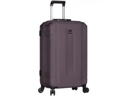 Cestovní kufr SIROCCO T-1177/3-M ABS - šedá  + LED svítilna