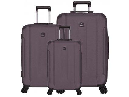 Sada cestovních kufrů SIROCCO T-1177/3 ABS - šedá  + LED svítilna