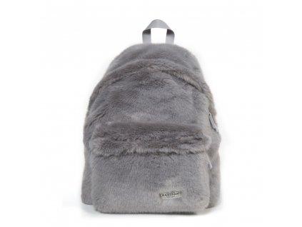 EASTPAK PADDED PAK'R Grey Fur  + Sluchátka, myš nebo pouzdro