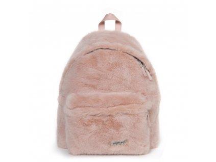 EASTPAK PADDED PAK'R Pink Fur  + LED svítilna