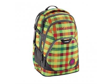 Školní batoh Coocazoo EvverClevver2, Hip To Be Square Green  + 5 % sleva po registraci + LED svítilna