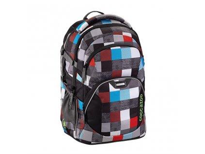 Školní batoh Coocazoo JobJobber 2, Checkmate Blue Red  + LED svítilna