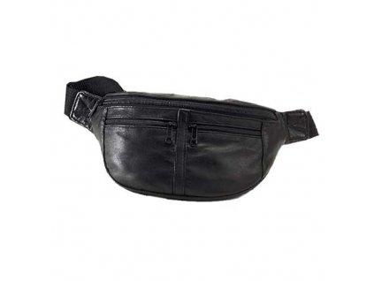 Travelite_Leather_Waist_Bag_Black
