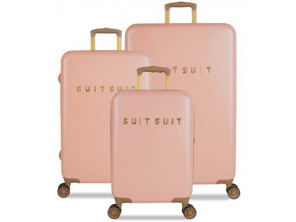 Sada cestovních kufrů SUITSUIT® TR-7101/3 - Fab Seventies Coral Cloud  + LED svítilna