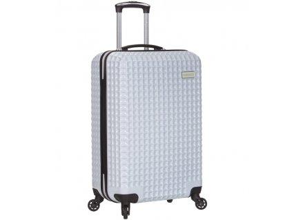 Kabinové zavazadlo SIROCCO T-1195/3-S PC - bílá  + LED svítilna