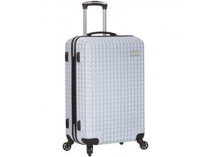 Cestovní kufr SIROCCO T-1195/3-M PC - bílá  + LED svítilna