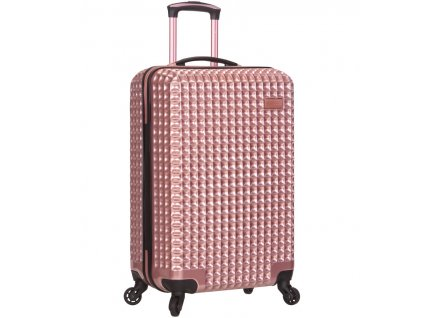 Kabinové zavazadlo SIROCCO T-1195/3-S PC - růžová  + LED svítilna