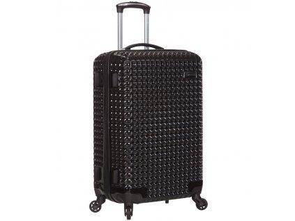 Cestovní kufr SIROCCO T-1195/3-M PC - černá  + LED svítilna