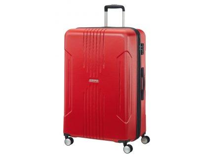 American Tourister TRACKLITE SPINNER 78 EXP L - FLAME RED  + LED svítilna