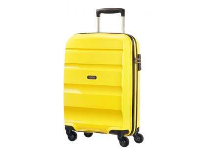 American Tourister BON AIR  SPINNER S STRICT - SOLAR YELLOW  + LED svítilna