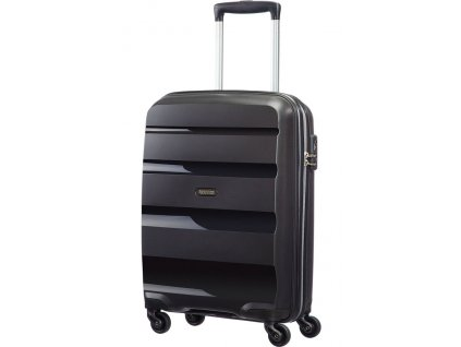American Tourister BON AIR  SPINNER S STRICT - BLACK  + LED svítilna