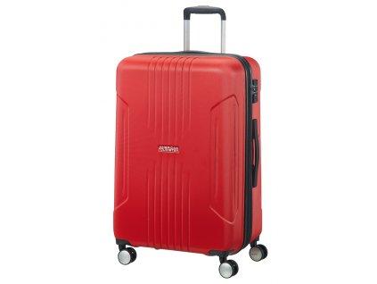 American Tourister TRACKLITE SPINNER 67 EXP M - FLAME RED  + LED svítilna