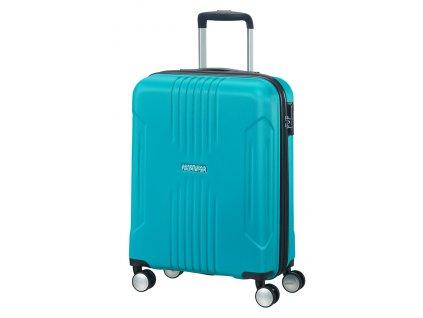 American Tourister TRACKLITE SPINNER 55 S - SKY BLUE  + LED svítilna