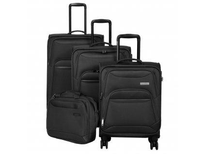 Travelite Kendo 4w S,M,L Black – sada 3 kufrů + BB  + Sluchátka, myš nebo pouzdro