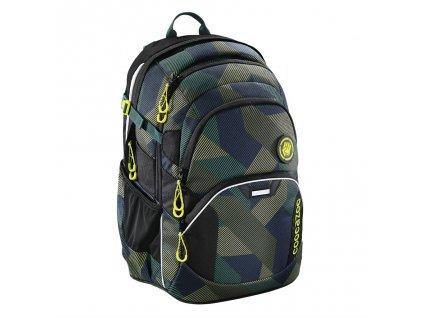 Školní batoh Coocazoo JobJobber2, Polygon Bric  + LED svítilna + sportovní pytel