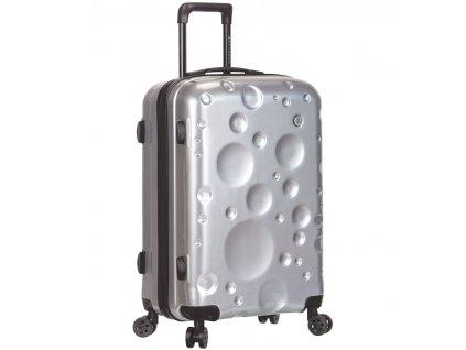 Cestovní kufr SIROCCO T-1194/3-M PC - stříbrná  + LED svítilna