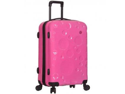 Cestovní kufr SIROCCO T-1194/3-L PC - růžová  + LED svítilna