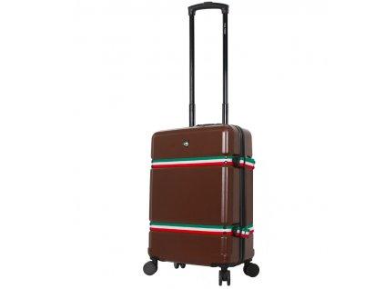 Kabinové zavazadlo MIA TORO M1543/3-S - hnědá  + LED svítilna