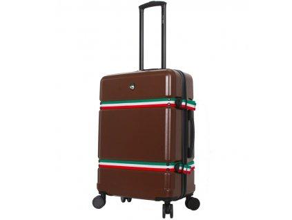 Cestovní kufr MIA TORO M1543/3-M - hnědá  + LED svítilna