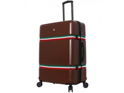 Cestovní kufr MIA TORO M1543/3-L - hnědá  + LED svítilna