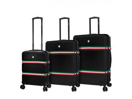 Sada cestovních kufrů MIA TORO M1543/3 - černá  + LED svítilna