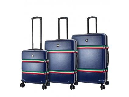 Sada cestovních kufrů MIA TORO M1543/3 - modrá  + LED svítilna
