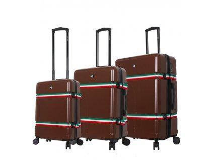 Sada cestovních kufrů MIA TORO M1543/3 - hnědá  + LED svítilna