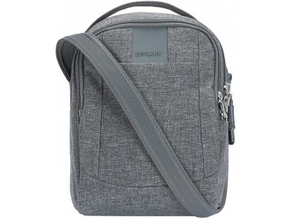 PACSAFE taška METROSAFE LS100 dark tweed  + LED svítilna