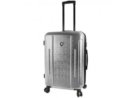 Cestovní kufr MIA TORO M1239/3-M - stříbrná  + LED svítilna