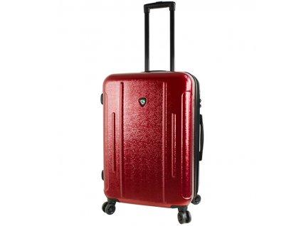 Cestovní kufr MIA TORO M1239/3-M - vínová  + LED svítilna