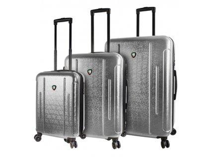 Sada cestovních kufrů MIA TORO M1239/3 - stříbrná  + LED svítilna