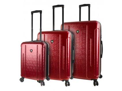 Sada cestovních kufrů MIA TORO M1239/3 - vínová  + LED svítilna