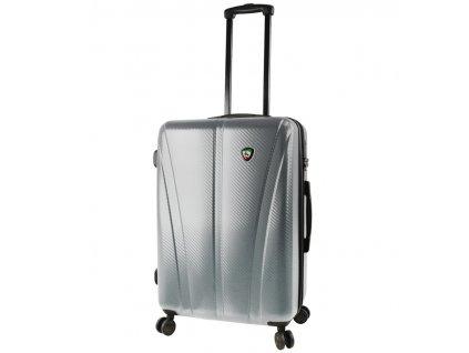 Cestovní kufr MIA TORO M1238/3-M - stříbrná  + LED svítilna