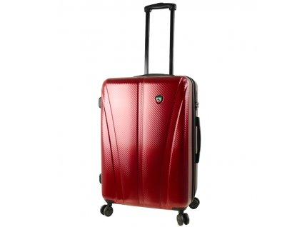 Cestovní kufr MIA TORO M1238/3-M - vínová  + LED svítilna